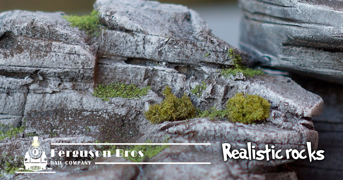 Rocks made with extruded polystyrene