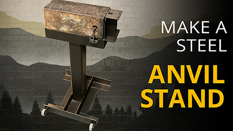 Steel anvil stand