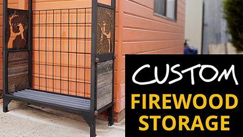 Build an outdoor firewood storage rack