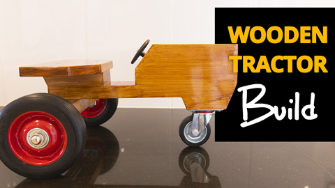 Build a wooden toy tractor